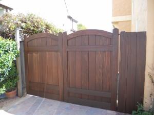 Redwood gates